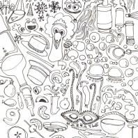 odpočinkové kresby