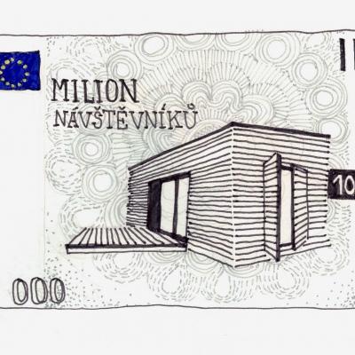 bankovka á-la 1 000 000 návštěvníků