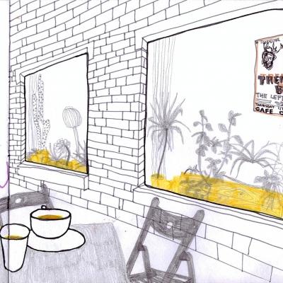 ...a samozřejmě do překrásných, kávou provoněných, angličtinou prodchnutých a květy porostlých kaváren