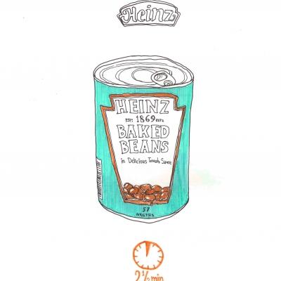 a tady pro změnu reklama na fazole á-la Any Warhol