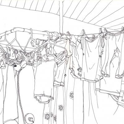 po pokoupání je ale zase nutno pověsit prádlo->aneb jaká krása vám může vylézt z pračky