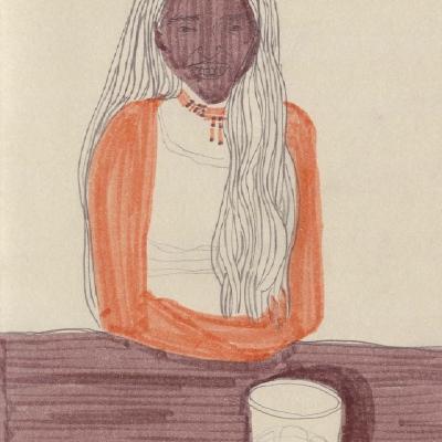..přičemž piju kávu, kreslím kamarádky...